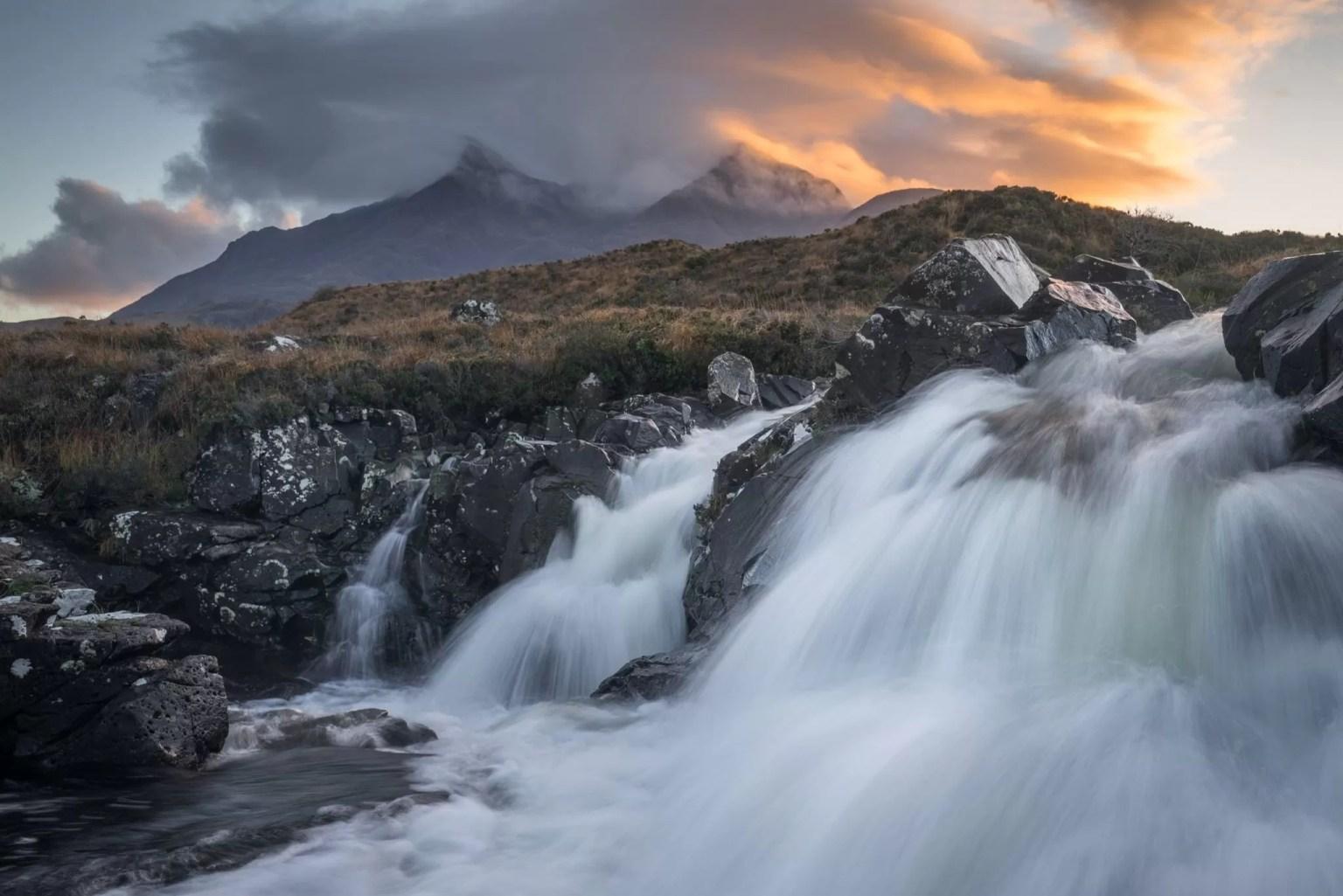 Allt Dearg Mor Sunset - Isle of Skye Photography Workshop
