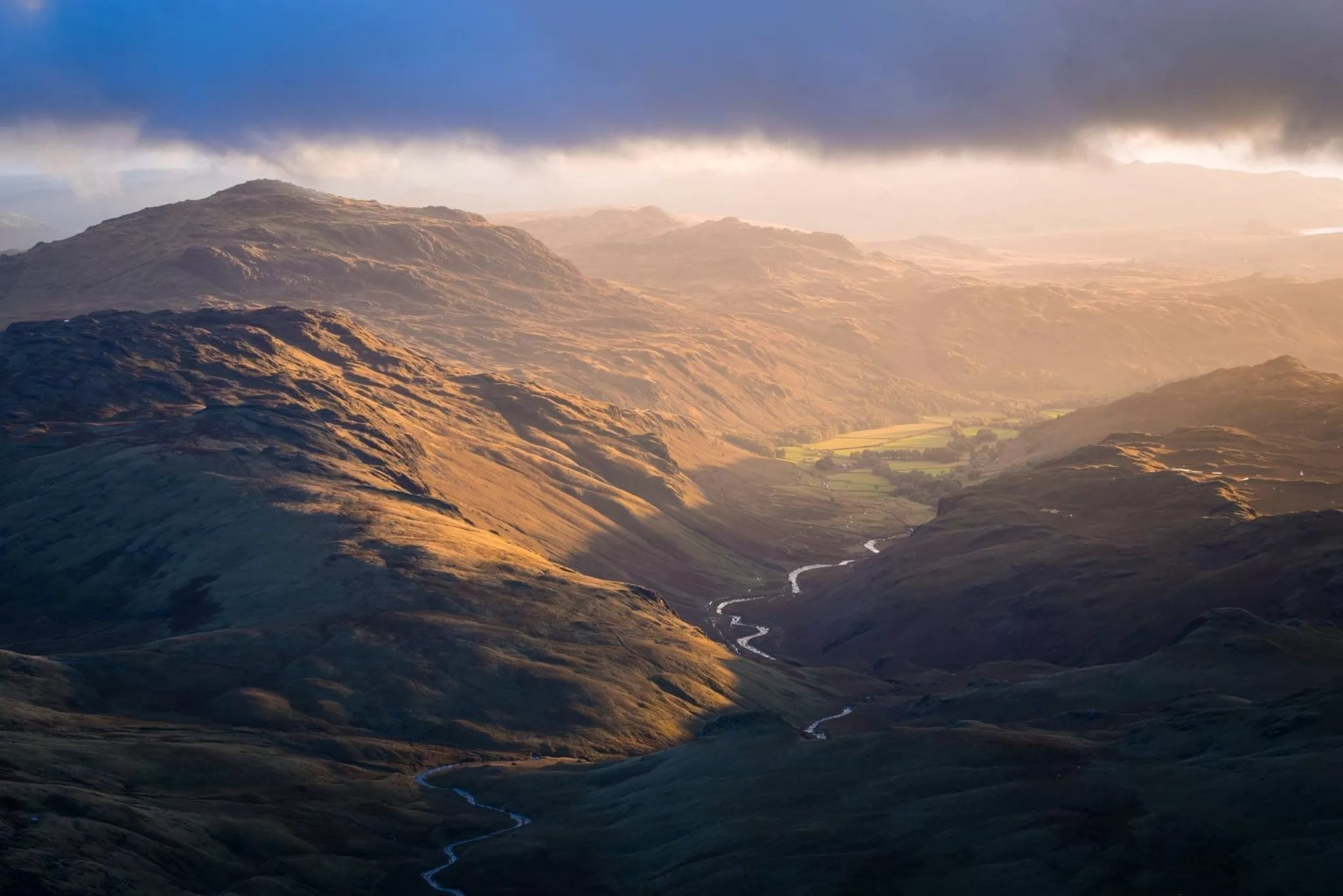Eskdale Sunset from Bowfell - Lake District Photography