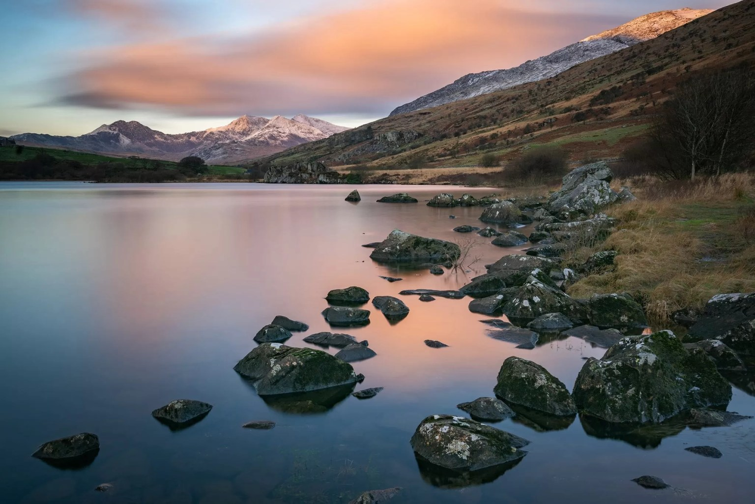 Llynnau Mymbyr Winter Sunrise - Snowdonia Landscape Photography