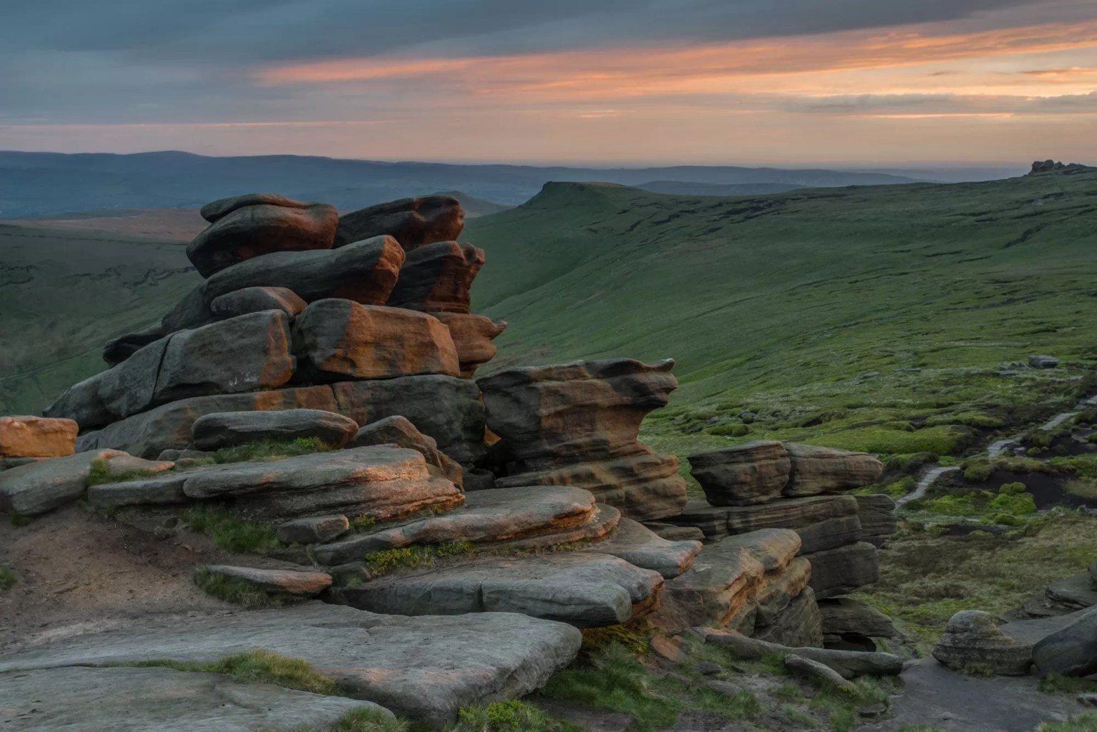 Pym Chair Sunset - Kinder Scout Photography Workshop