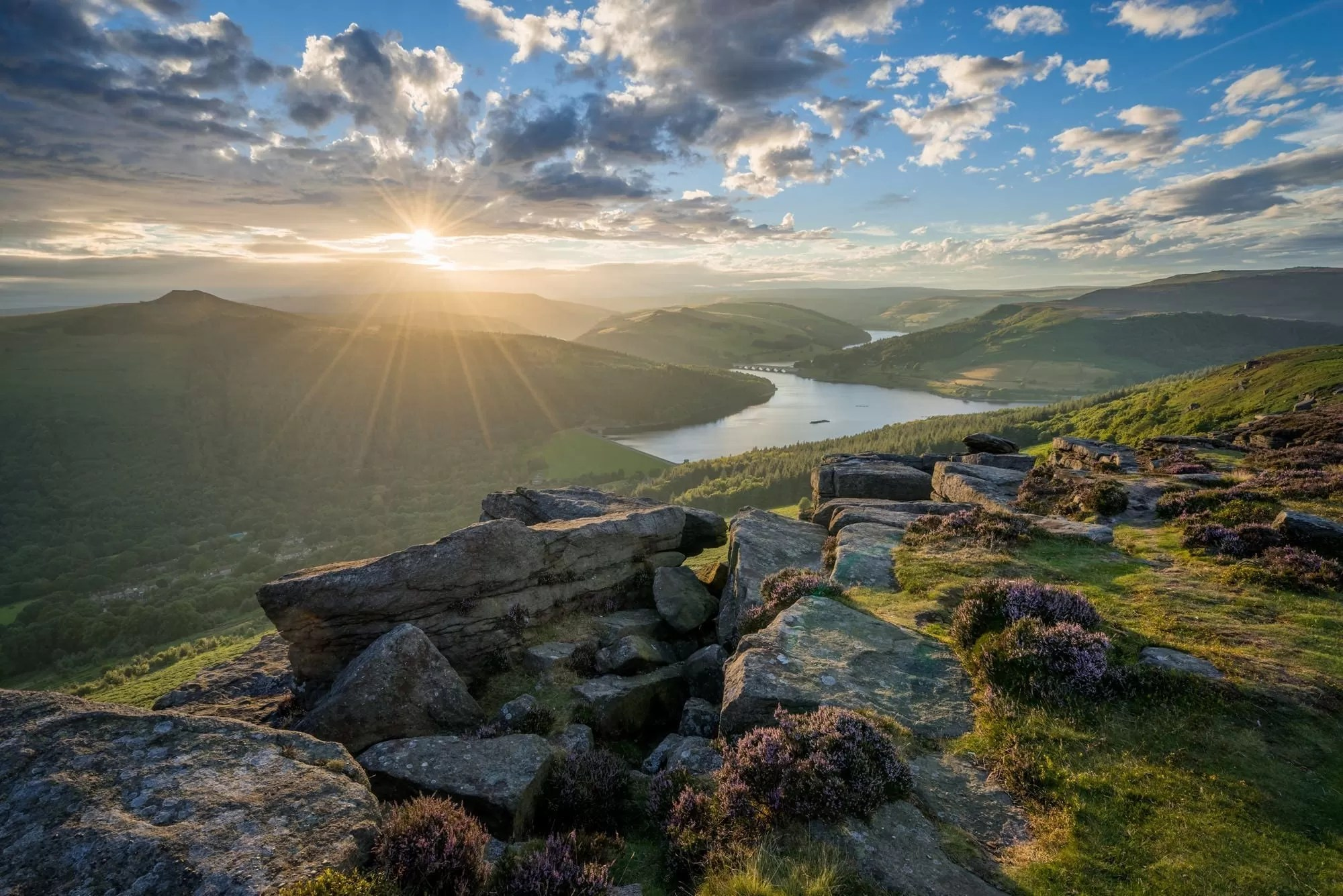 Bamford Edge Heather Sunset - Peak District Through The Lens Photography Workshop