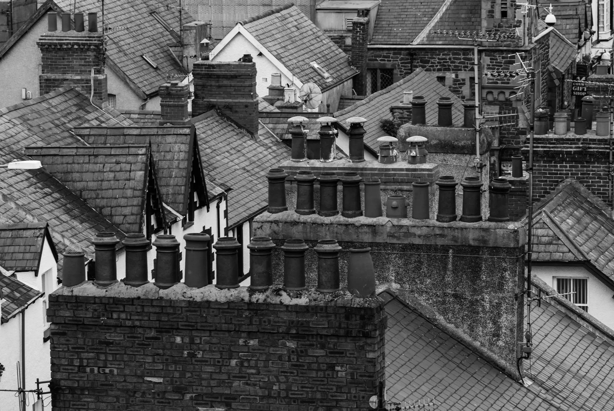Conwy Town Chimneys - Wales Photography