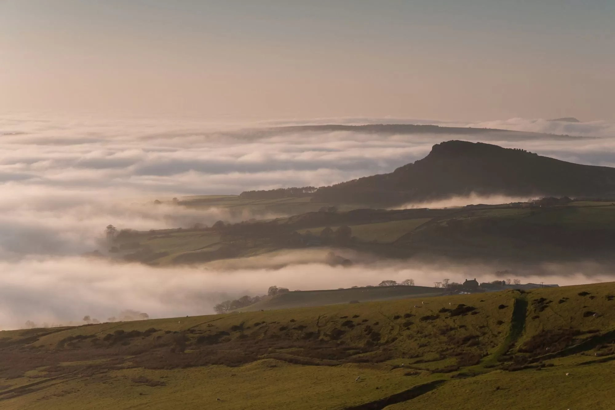 Hen Cloud from Morridge Moor - Peak District Photography