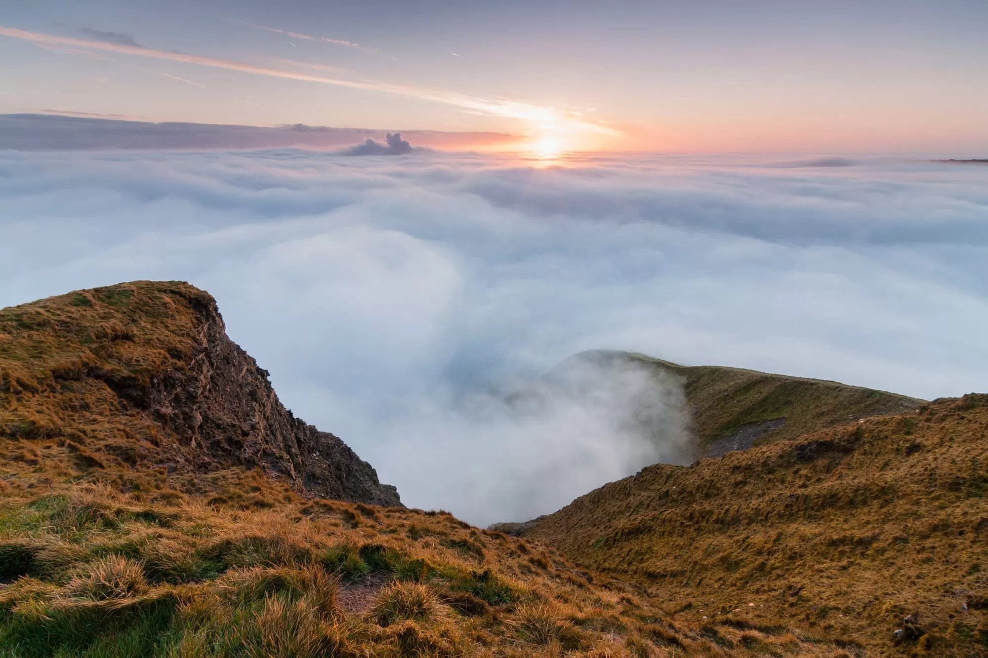 Mam Tor Inversion Sunrise - Peak District Photography