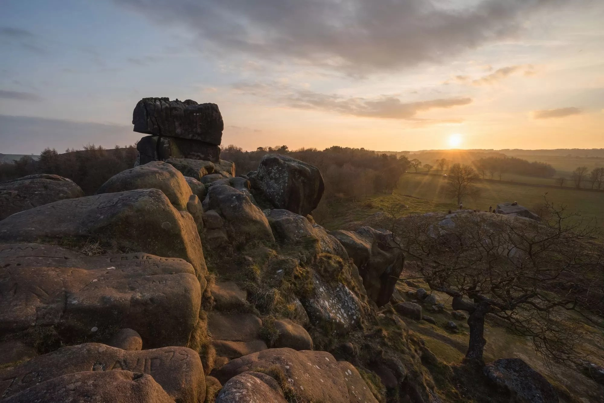 Robin Hoods Stride Sunset - Peak District Through The Lens Photography Workshop