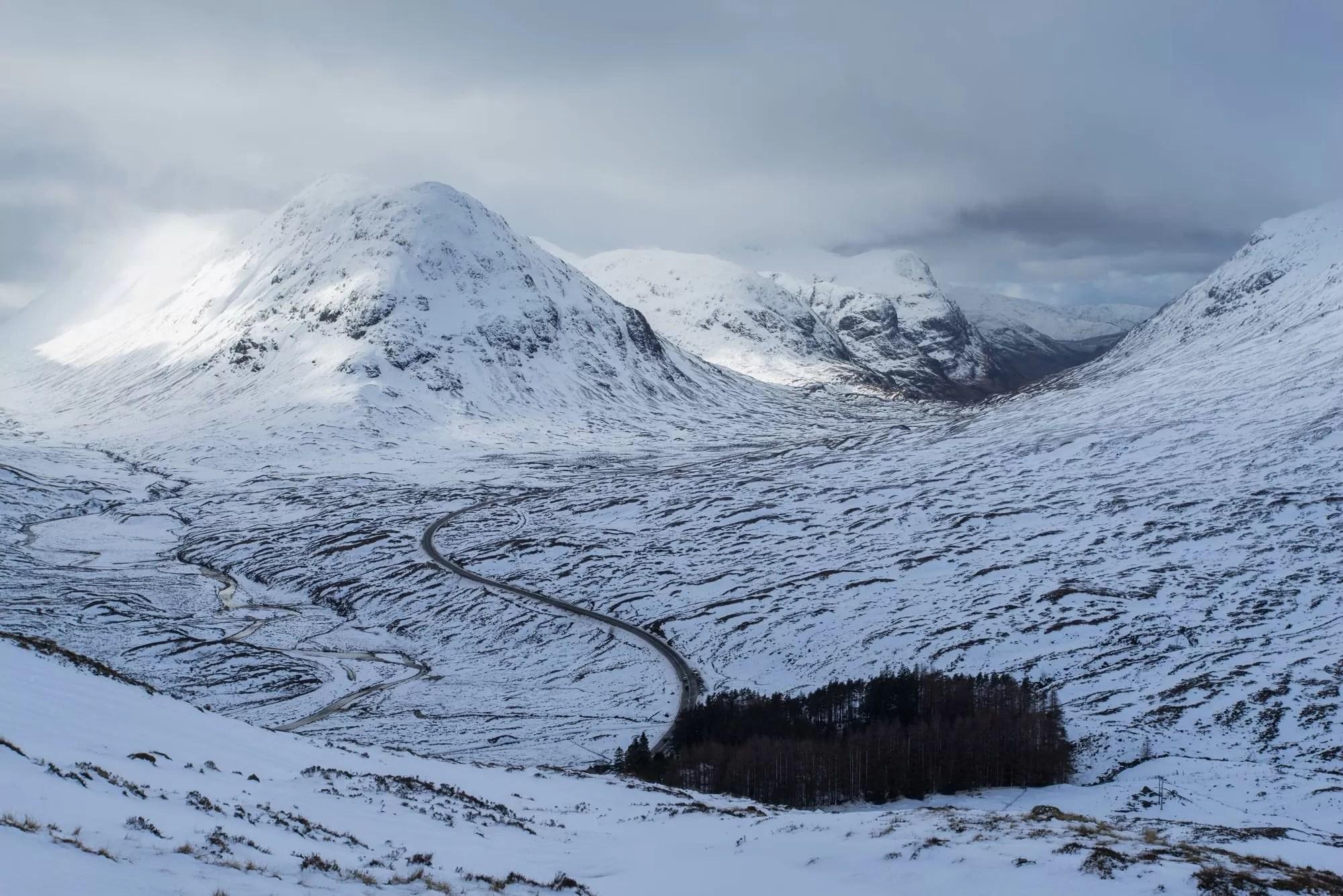 Buachille Etiv Beag from Beinn A'Chrulaiste Winter - Scotland Photography Workshops