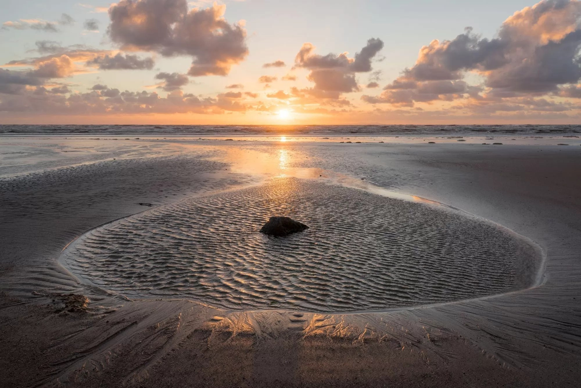 Seascale Sunset - Lake District Photography Workshops