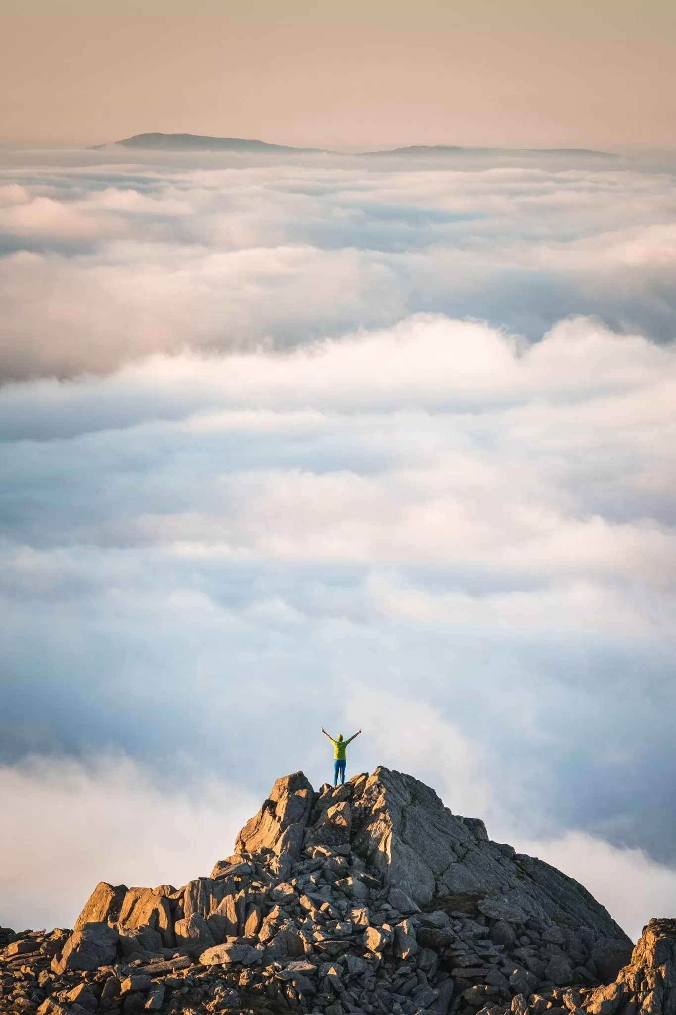 Admiring the View Above the Clouds - Snowdonia Photography