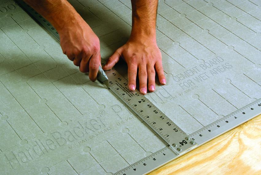 how to cut hardiebacker cement board