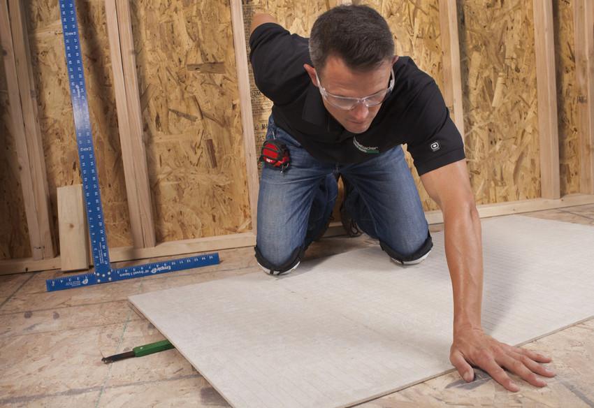 to install hardiebacker cement board on