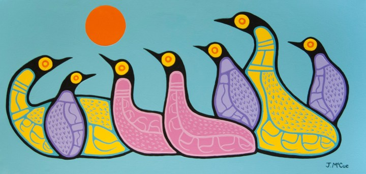 Loons-with-sun-24x48-2