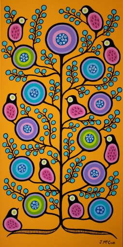 """""""Spring Equinox"""" Acrylic on canvas 48"""" x 24"""" stretched"""