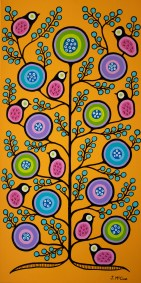 """""""Spring Equinox #2"""" Acrylic on canvas 48"""" x 24"""" stretched"""