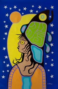 """Illuminated #2"" Acrylic on canvas 52"" x 36"" unstretched"