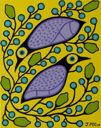 Birds and Blueberries #2 20x16