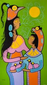 Mother Teaching Child 70x43