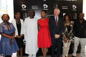 Some of the judges, patrons and Etisalat Nigeria top brass after the Etisalat Prize for Literature press conference.