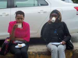 After the event: You know about Kenyans and tea no?