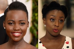 Lupita Nyong'o and Chimamamda Adichie. Photo/BellaNaija.com