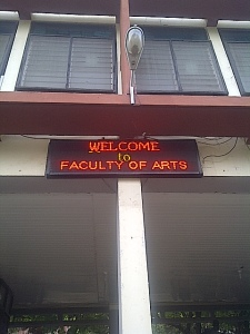 Faculty of Arts, University of Ibadan where the action was.