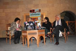A panel at the Cairo Literary Festival