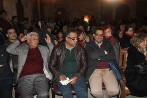 The audience at an event at the Cairo Literary Festival
