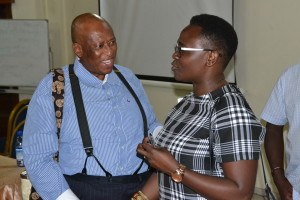 Prof Zakes Mda and Dr Jennifer Makumbi