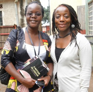 Harriet Anena with Tsitsi Dangarembga Photo/Abubaker Lubowa