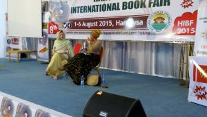 Mary Harper moderates Maimouna Jallow