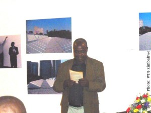 Memory Chirere reading one of Hove's novels. Photo/Writers International Network Zimbabwe