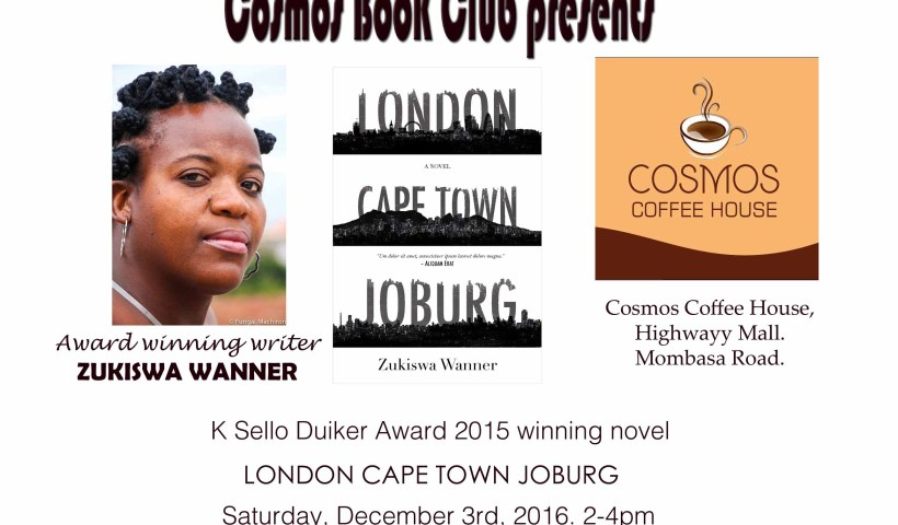 Cosmos Book Club features Zukiswa Wanner's London Cape Town Joburg