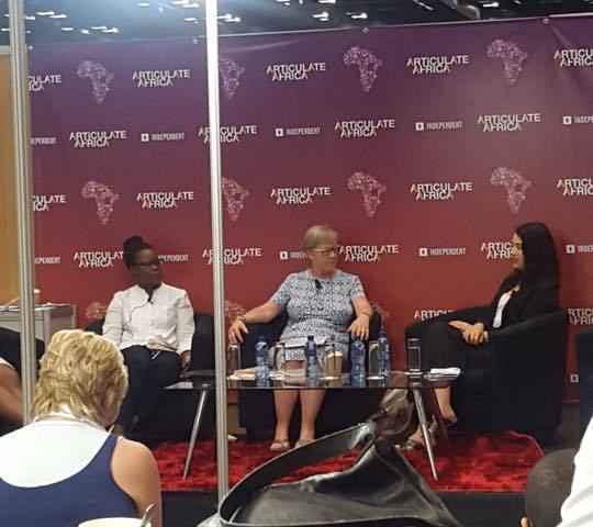 Futhi Ntshingila, Penny De Vries and Michelle Hattingh in panel.