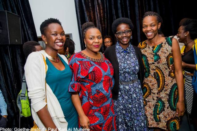 Lola Shoneyin, Dorothy Nyong'o and Faith Oneya
