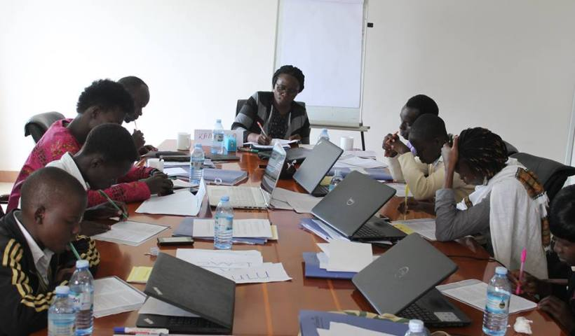 Jennifer Nansubuga Makumbi in session with the writers