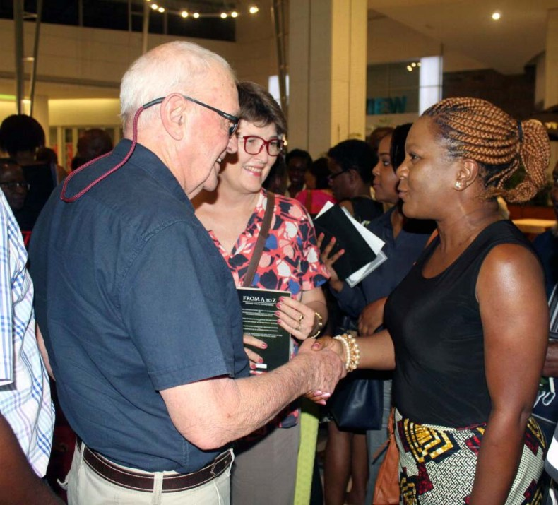 Ellen Banda-Aaku (right) with guests at the launch