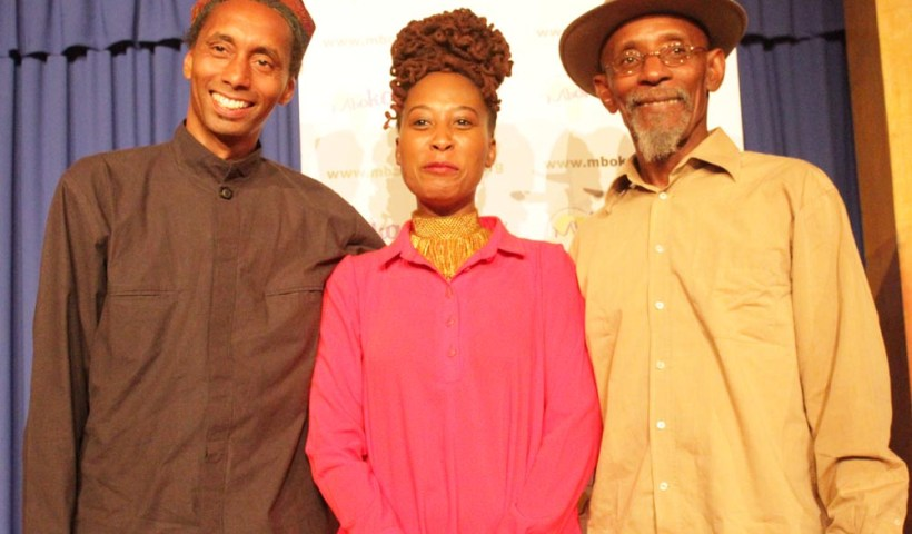 Tunde Jegede, Natalia Molebatsi and Linton Kwesi Johnson. Photo/Lena Nian Photography