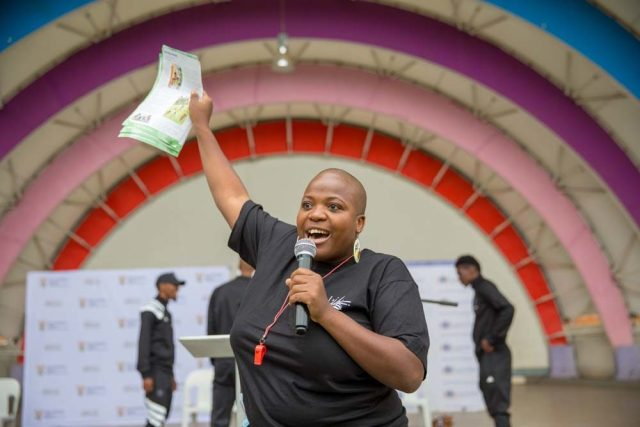Zukiswa Wanner at World Read Aloud Day 2018 South Africa.
