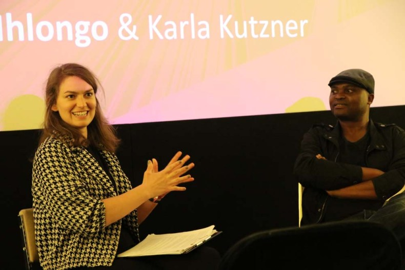 Karla Kutzner with Niq Mhlongo
