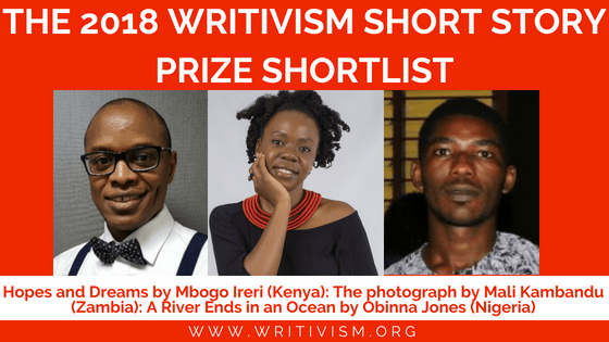 Writivism Short Story Prize 2018 shortlist announced.