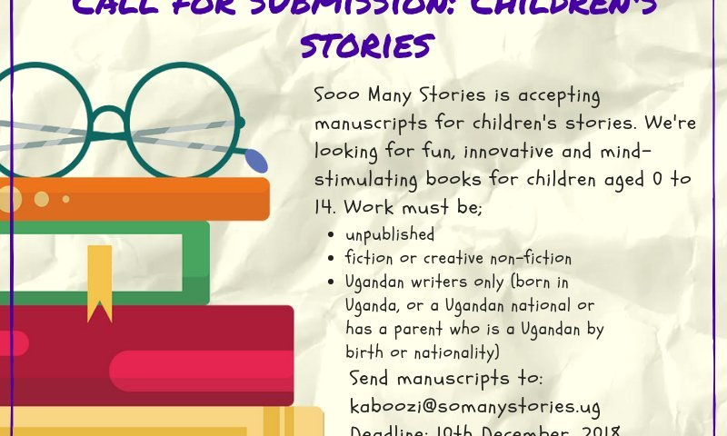 Callout: Sooo Many Stories seeks your children's literature (Uganda only)