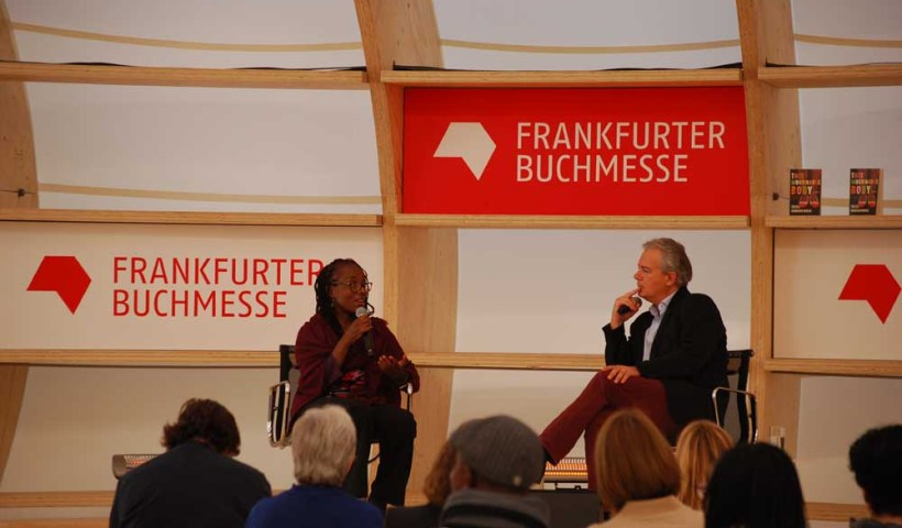 Tsitsi Dangarembga moderated by Ilija Trojanowin. Photo/interkontinental