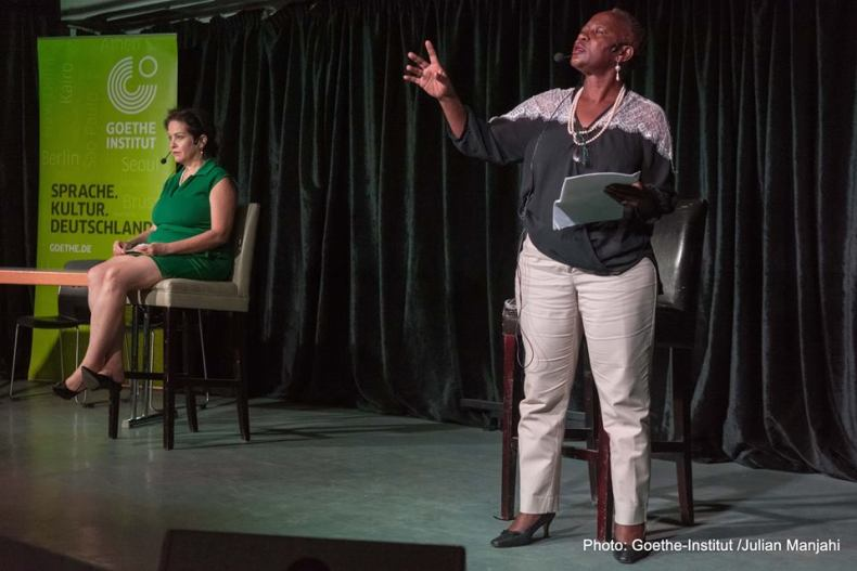 Shan Bartley and Sitawa Namwalie. Photo/Julian Manjahi, Goethe Institut.