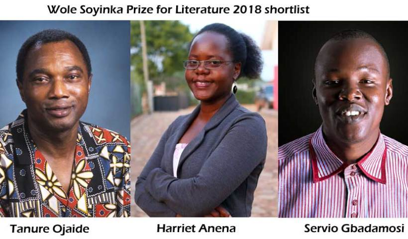 Wole Soyinka Prize for Literature 2018 shortlist