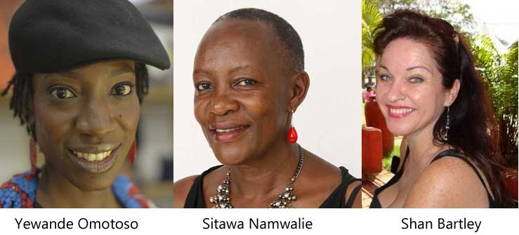 Sitawa Nawalie, Yewande Omotoso, Shan Bartley for Artistic Encounters in November.