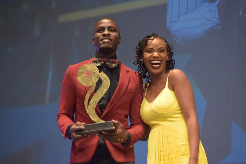 Nick Ndeda received award at Sanaa Theatre Awards 2018