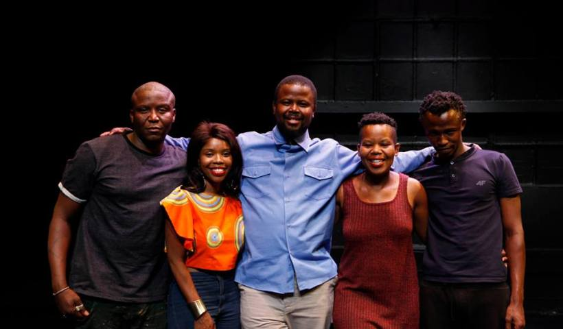 "Cast of Niq Mhlongo's ""Nailed"""