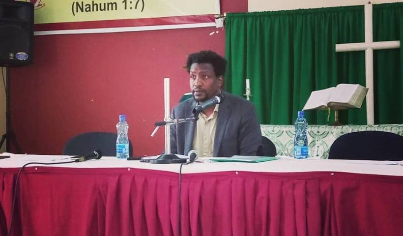 Mukoma Wa Ngugi gives keynote address at St Paul University Limuru.