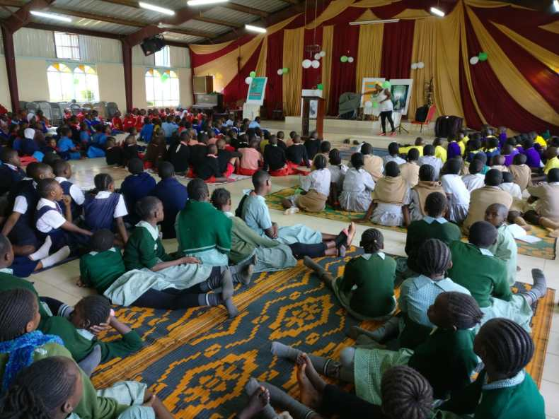 Wangari The Storyteller at the World Read Aloud Day 2019 Kenya