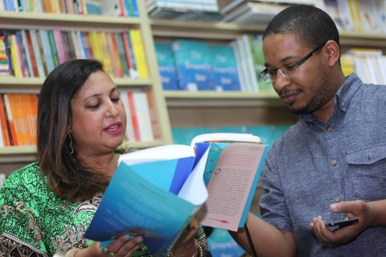 Aleya Kassam with Ahmed of Prestige Books