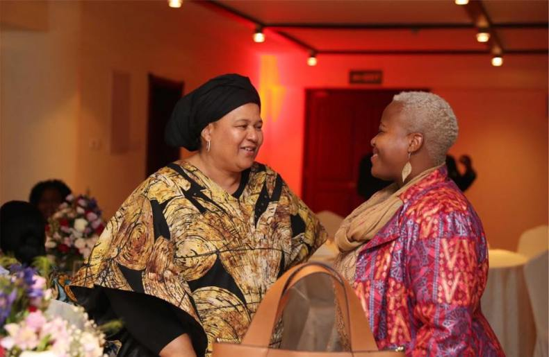 Elinor Sisulu with Zukiswa Wanner